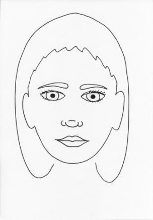 girl face blank